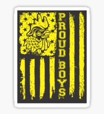 Rooster Flag Sticker