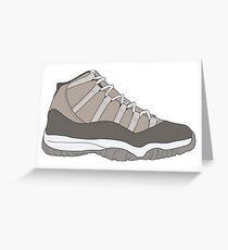 "Air Jordan XI (11) ""Cool Grey"" Greeting Card"