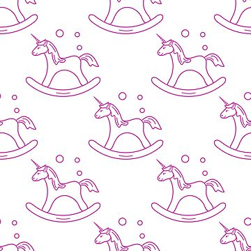 Pattern with rocking magic unicorn and bubbles. by aquamarine-p
