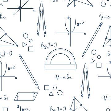 Mathematical scientific vector seamless pattern. by aquamarine-p