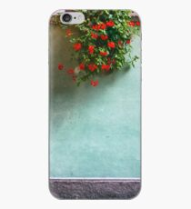 Geraniums on a wall iPhone Case
