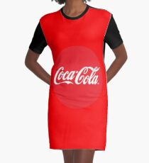 Coca Cola red circle logo Graphic T-Shirt Dress
