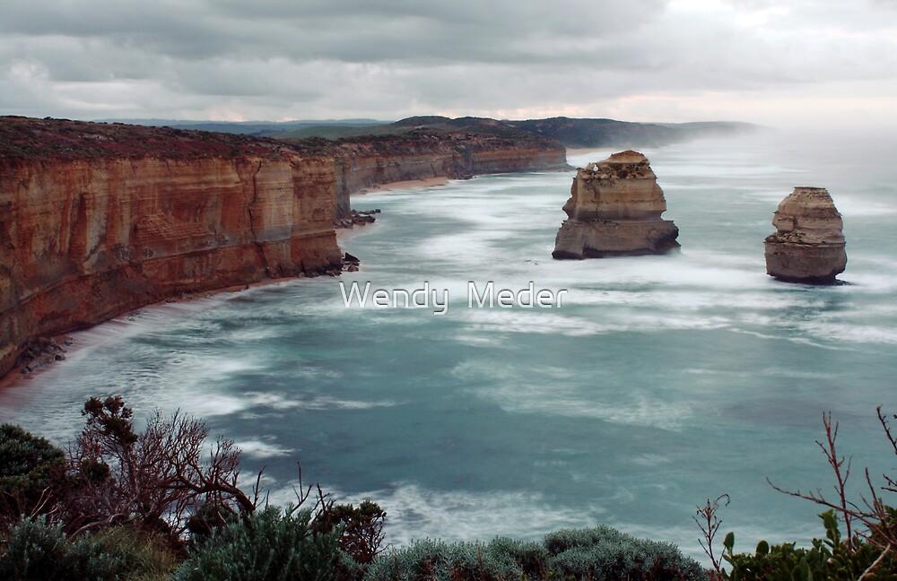 Gibson Steps - Great Ocean Road by Wendy  Meder
