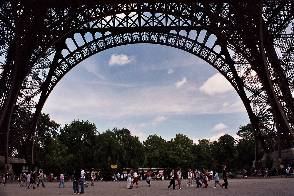 Framed by the Eiffel Tower by Jesse Cain