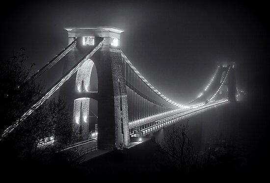 Clifton Suspension Bridge Fog by Alan Watt