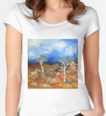 Quiver trees / Kokerbome Women's Fitted Scoop T-Shirt