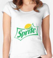 Original green sprite logo Fitted Scoop T-Shirt