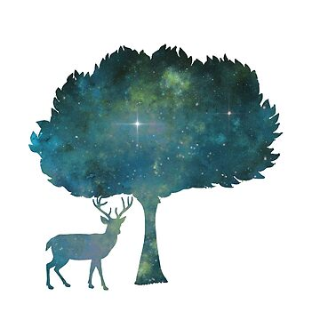 Artistic Deer Silhouette by GwendolynFrost