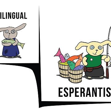 Bilingual vs Esperantist by raevan
