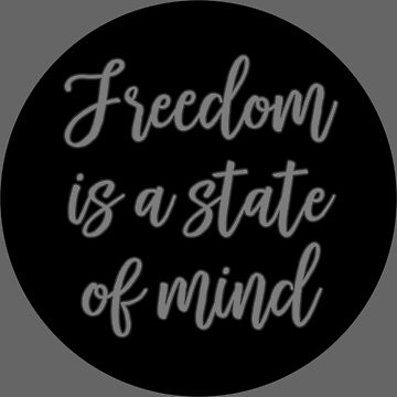 deep quotes freedom sticker mind by untagged-shop