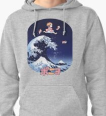 Thee great wave of Ponyo! Pullover Hoodie