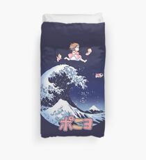Thee great wave of Ponyo! Duvet Cover