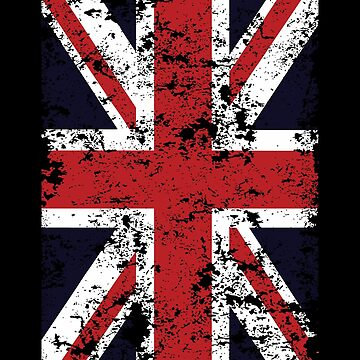 Union Jack Dark England Flag Gift by Reutmor