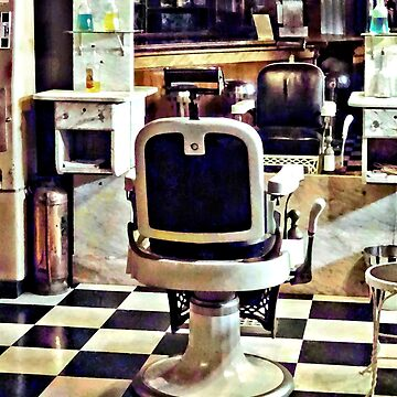 Barber Chair and Bottles of Hair Tonic by SudaP0408