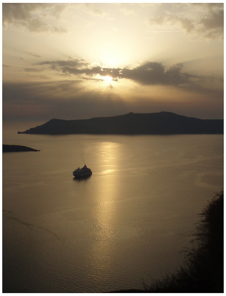 Dusk at Santorini by Guerrilla