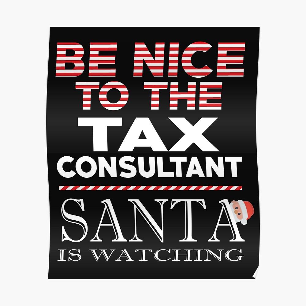 Christmas Accountant.Tax Accountant Christmas Santa Claus Poster