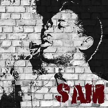 Graffiti art: Sam Cooke by halibutgoatramb