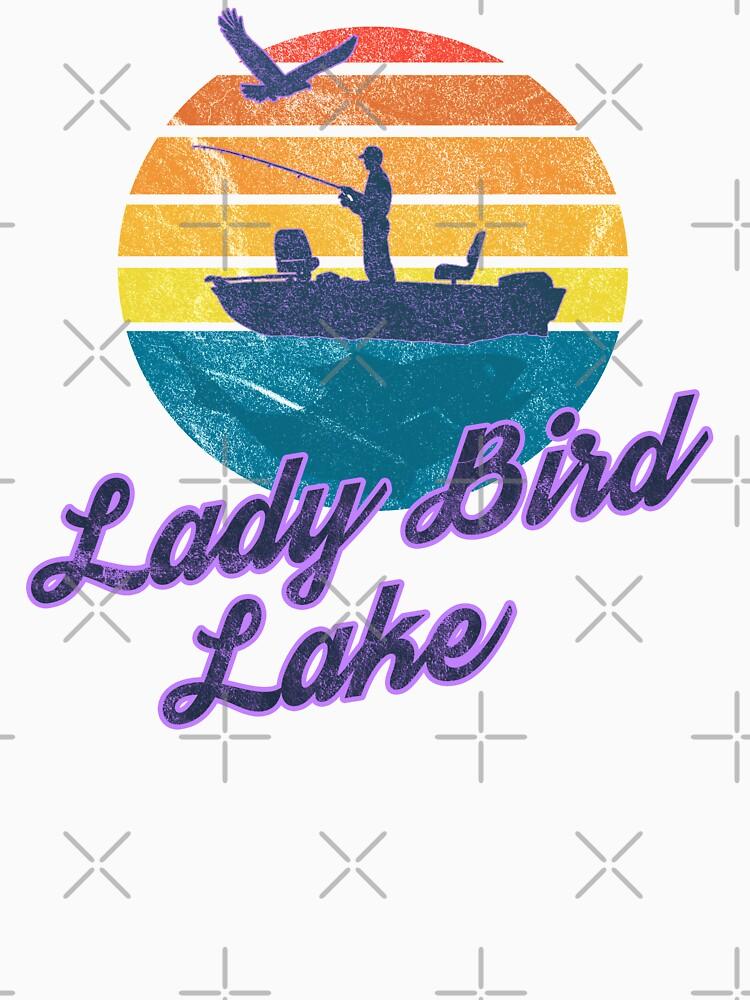 Lady Bird Lake Austin Texas USA America Great Lakes Fishing Trips Sail Boat T-Shirt & Gifts by lukeyr1