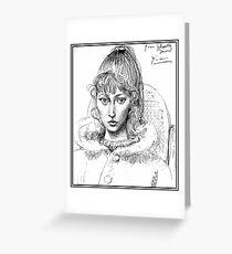SYLVETTE DAVID : Vintage 1954 Picasso Sketch Greeting Card