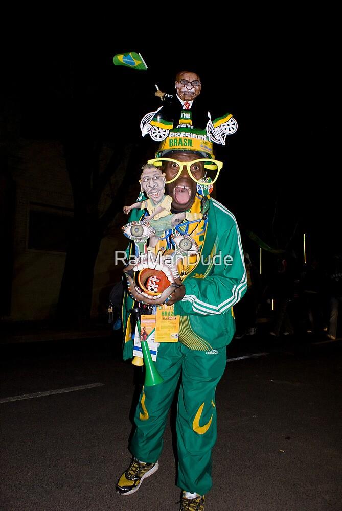 Soccer Fan - Traditional Dress by RatManDude