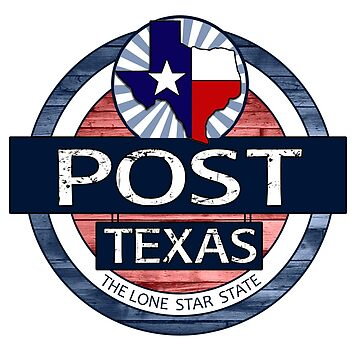 Post Texas rustic wood circle by artisticattitud