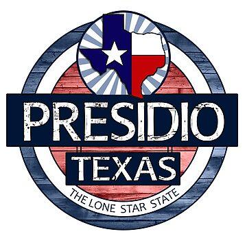 Presidio Texas rustic wood circle by artisticattitud