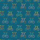 Happy Bike Blue by Amy Walters