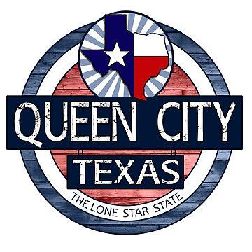 Queen City Texas rustic wood circle by artisticattitud
