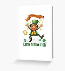 ST. PATRICK'S DAY LUCK OF THE IRISH LEPRECHAUN Greeting Card