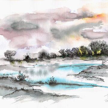 Frozen river by Artual