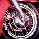 Its the Wheel Thing Classic Red Harley by Terry Senior