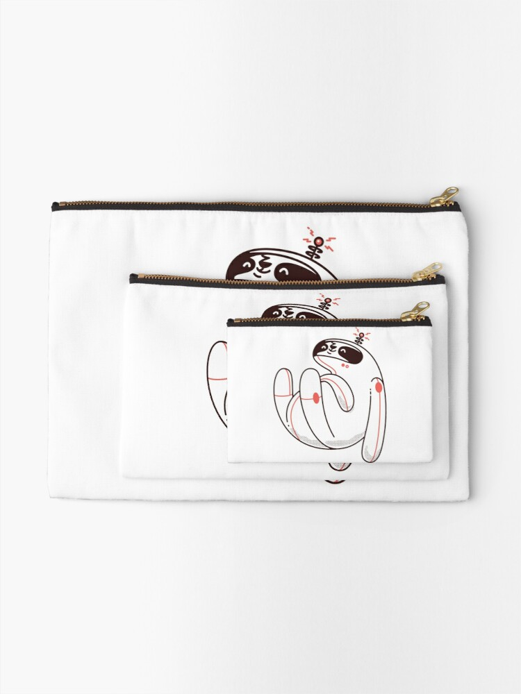 Alternate view of Lazy Space Sloth Zipper Pouch