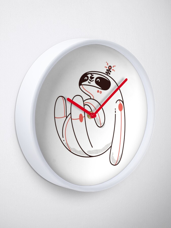 Alternate view of Lazy Space Sloth Clock