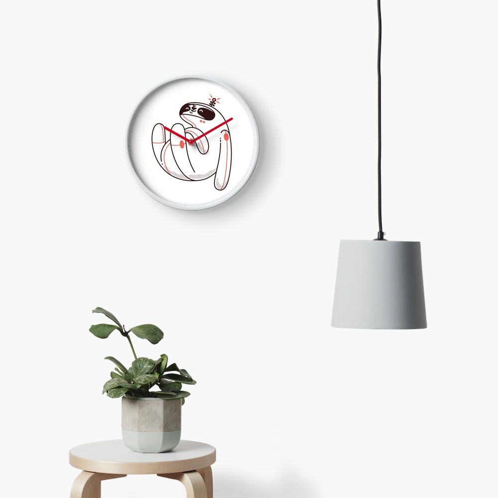 Lazy Space Sloth Clock