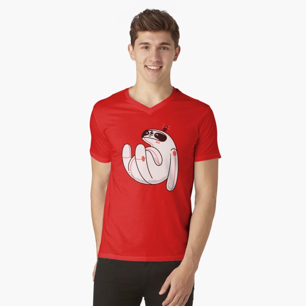 Lazy Space Sloth V-Neck T-Shirt