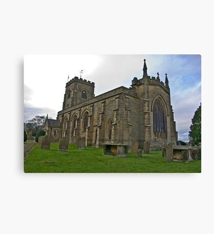 The Church East Witton. Canvas Print