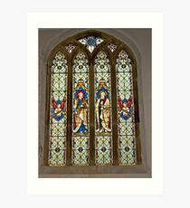 Window #1 East Witton Church Art Print