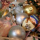 Snowman and Fairy amongst the Christmas Decorations by Pamela Jayne Smith