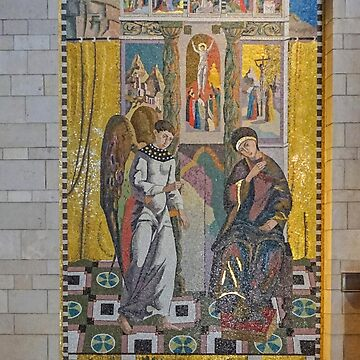 Religious artwork. Mosaic of the Madonna and Child at the Basilica of the Annunciation, Israel, Nazareth by PhotoStock-Isra