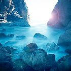 Blue Pool Sunflare by Mark Haynes Photography