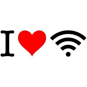 I Love Free Wifi by fourretout