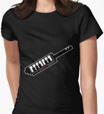 8Bit Keytar Pixels Fitted T-Shirt