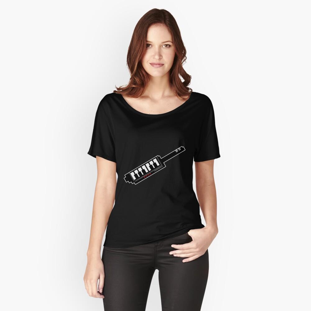 8Bit Keytar Pixels Relaxed Fit T-Shirt