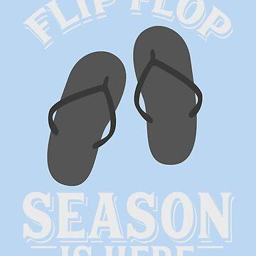 Flip Flop Season Is Here Art | Cute I Love Summertime Art by NBRetail