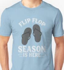 Flip Flop Season Is Here Art | Cute I Love Summertime Art Unisex T-Shirt