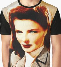 Katharine Hepburn, Vintage Hollywood Legend Graphic T-Shirt
