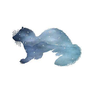 Ferret Silhouette by GwendolynFrost