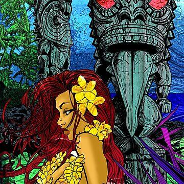 Girl with 2 Tiki by Kaaawasaki