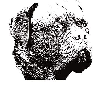 Dogue de Bordeaux Face Design - A French Mastiff Christmas Gift  by DoggyStyles