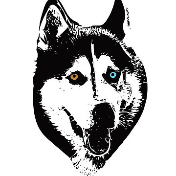 Siberian Huskey Face Design - A Huskey Christmas Gift by DoggyStyles
